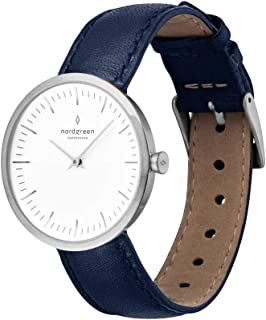 Infinity Scandinavian Silver Analog Quartz Watch with Leather or Mesh Interchangeable Straps