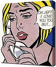 Lilarama Roy Lichtenstein Oh Jeff Framed Canvas Art Print Reproduction