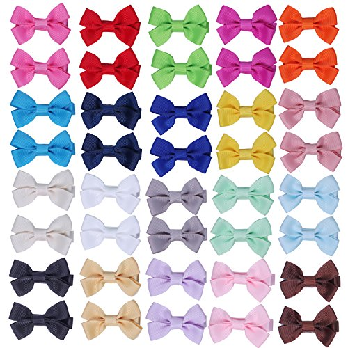 Hair Bows for Girls Baby Toddlers Infant Hair Clips Hair Clips Barrette (20 pairs 2 inch)