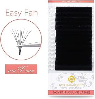 BEYELIAN Self Fanning Eyelash Extensions Easy Fan Lash Extensions Easier 3D 6D XD Volume Lashing Faux Mink Individual Eyelashes Dramatic Look D Curl Fluffy .07mm 8-15mm mix tray