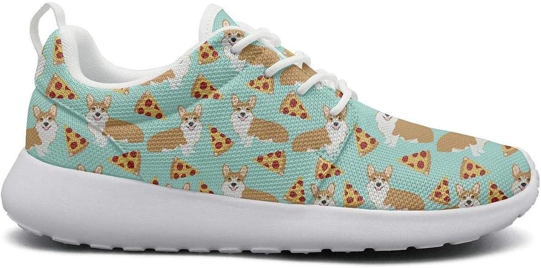 Ktyuwwww Ung män Färgful Net Söt hund Pizza Klättrande Sports springaning skor