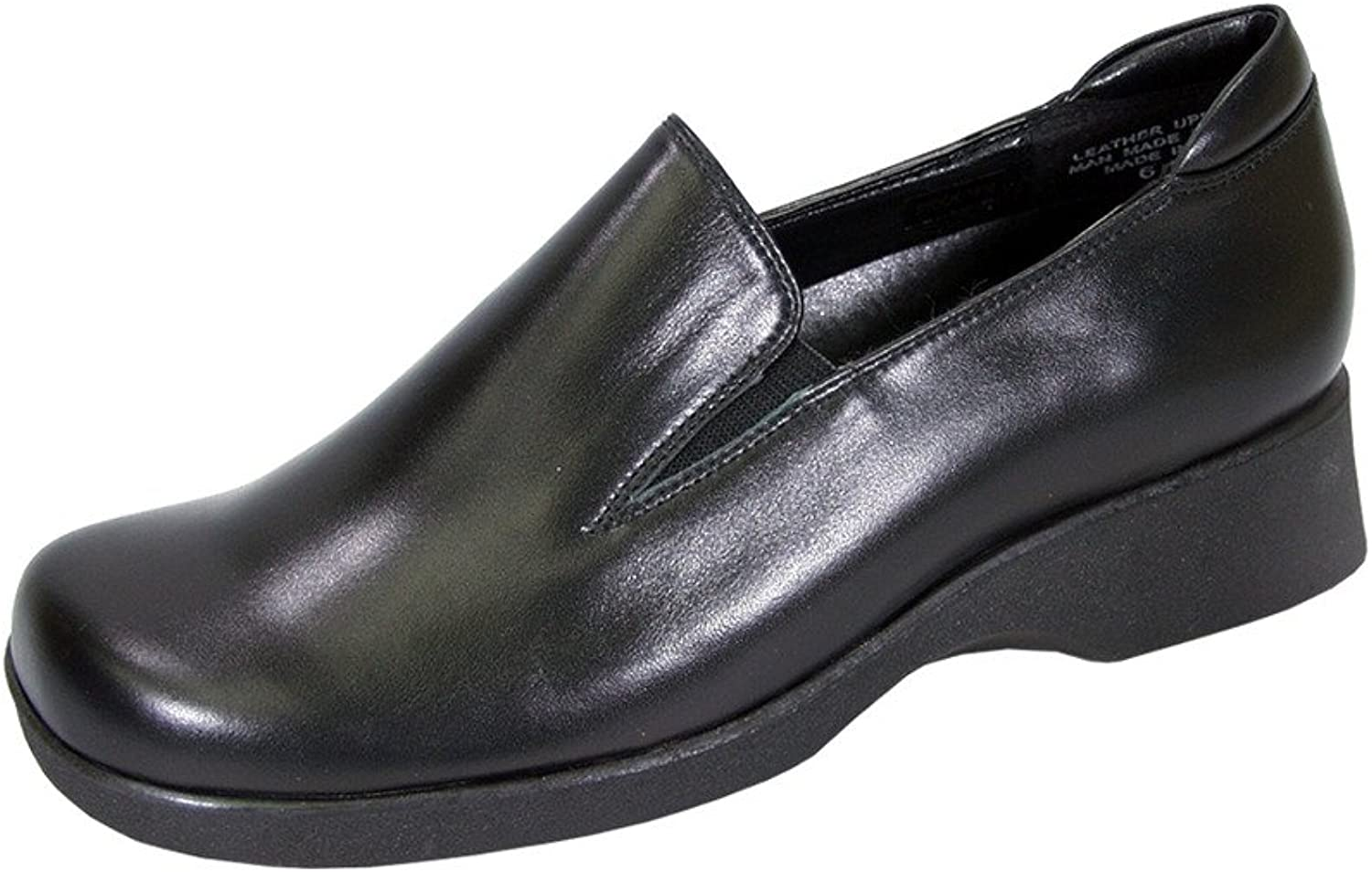 24 Hour Comfort Bristol Women Wide Width Classic Elegant Cushioned Leather Slip On shoes
