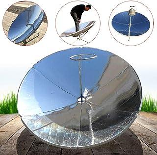 LiFuJunDong 1800W Concentrating Solar Cooker Solar Cooker Sun Oven 1.5m Diameter Parabolic Focal Spot Temperature:700-1000°C