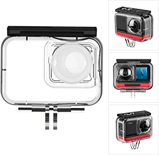 TELESIN IS-WTP-R01 Waterdichte cameragebehuizing 40 meter onderwaterbehuizing fotografie-accessoires compatibel met Insta360 ONE R 360 VR Edition actiecamera's