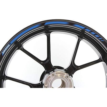 Impressiata Motosticker Kompatibel Für Motorrad Felgenaufkleber Specialgp Blau Abziehbild Aufkleber Bmw R1200r Auto