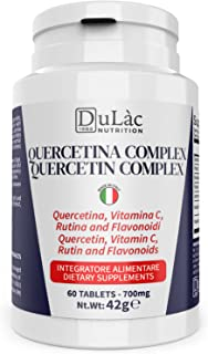 Quercetina Complex Dulàc 60 compresse (Quercetina Integratore per 2 mesi di trattamento), Made in Italy con Quercetina Bro...