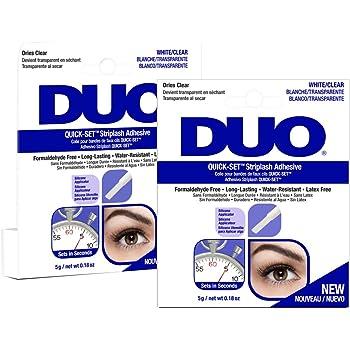 DUO Quick-Set Clear False Strip Lash Adhesive, Dries Invisible 0.18 oz x 2 packs