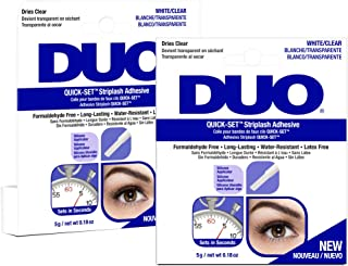 DUO Quick-Set Clear False Strip Lash Adhesive, Dries Invisible 0.18 oz x 2 pack
