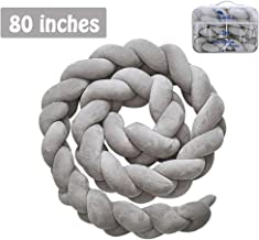 Luchild Baby Braided Crib Bumper Soft Snake Pillow Protective & Decorative Long Baby Nursery Bedding Cushion Knot Plush Pillow for Toddler/Newborn