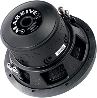 Car Subwoofer by Massive Audio GTX104 - Woofer with Amazing Sound for Truck, Cars, Jeep - 10 Inch Car Audio 1,400 Watt GTX Series Dual 4 Ohm, 2.5 Inch Voice Coil. Sold Individually