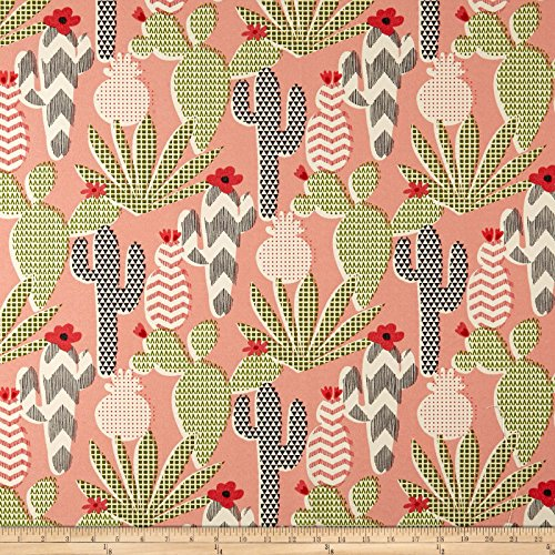 Waverly Sun N Shade Cute Cactus Hibiscus Outdoor, Fabric by the Yard