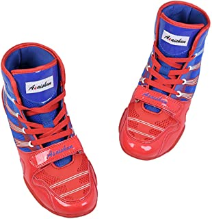 Boxing Boots, Wrestling Combat Training Shoes Unisex Adults Youth Profession Martial Arts Shoes Lightweight Breathable