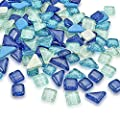 Ksmiley 200g Mixed Color Crystal Mosaic Tiles Stained Mosaic Glass Pieces Bulk Assorted Square and Triangle Glitter Mosaic Tiles for Craft Bathroom Kitchen Home Decoration DIY Art Projects