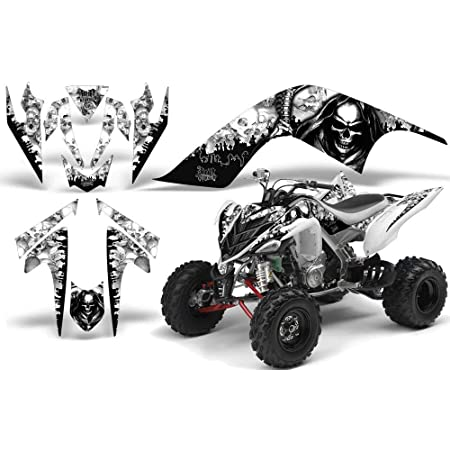 Reaper Black Wholesale Decals ATV Graphics kit Sticker Decal Compatible with Yamaha Raptor 700R 2013-2018
