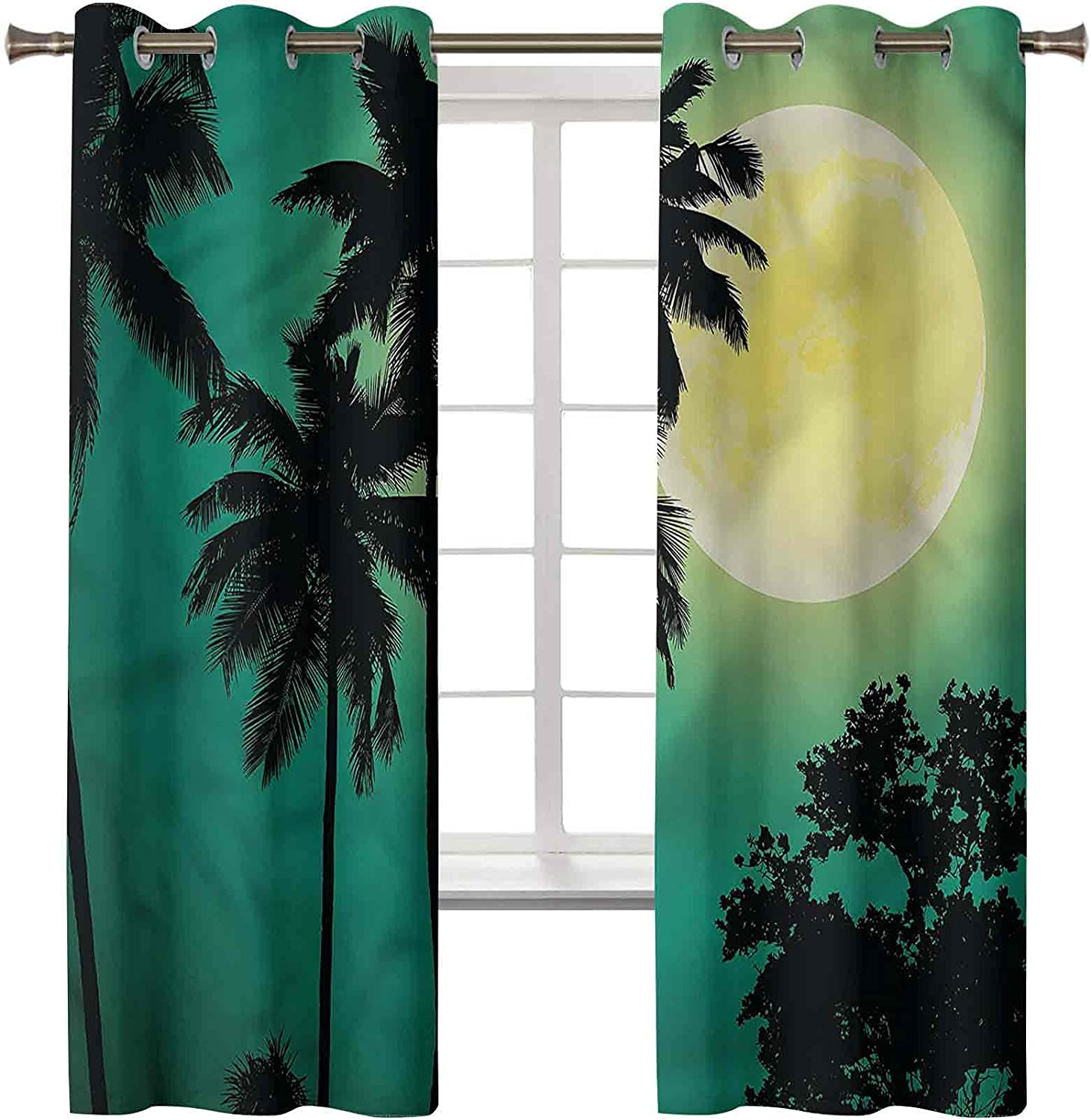 Denver Mall Blackout Curtains for Bedroom Overseas parallel import regular item Grommet Palm Insulated Tr Thermal