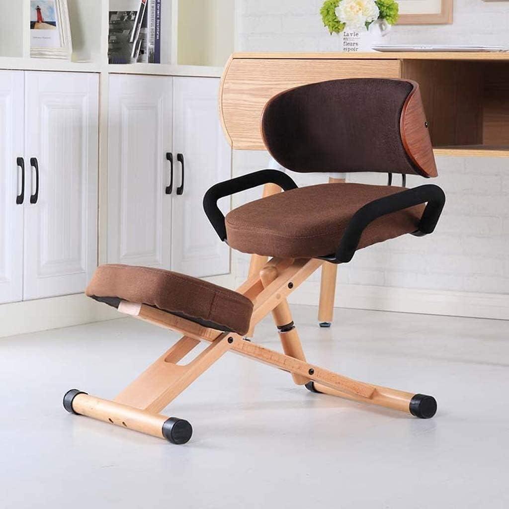 AYHa Agenouillé Sièges ergonomiques orthopédique Chaise genou Tabouret réglable en hauteur avec poignée avec dossier,vert Vert