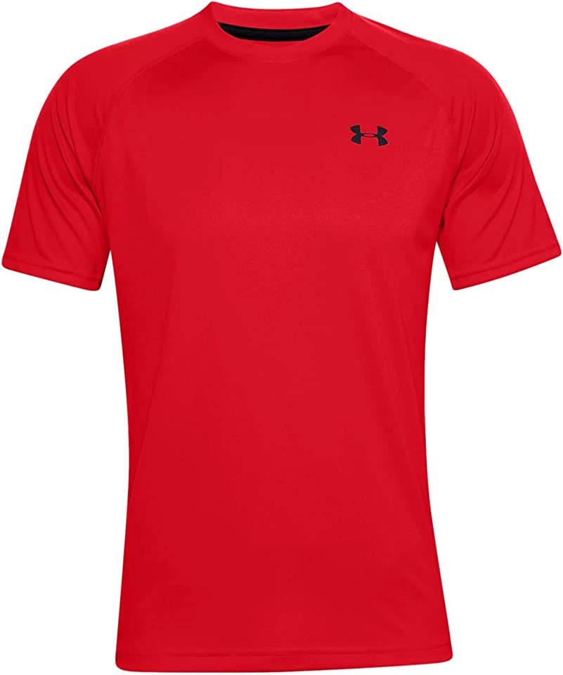 UA Tech 2.0 Short Sleeve Tee, Light and Breathable Sports T-Shirt, Gym Clothes With Anti-Odour Technology Men