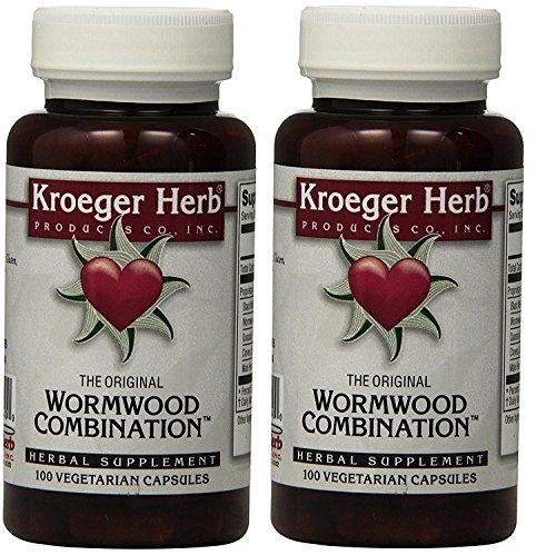 2 Pack -Kroeger Wormwood Combination, 100 V-Cap