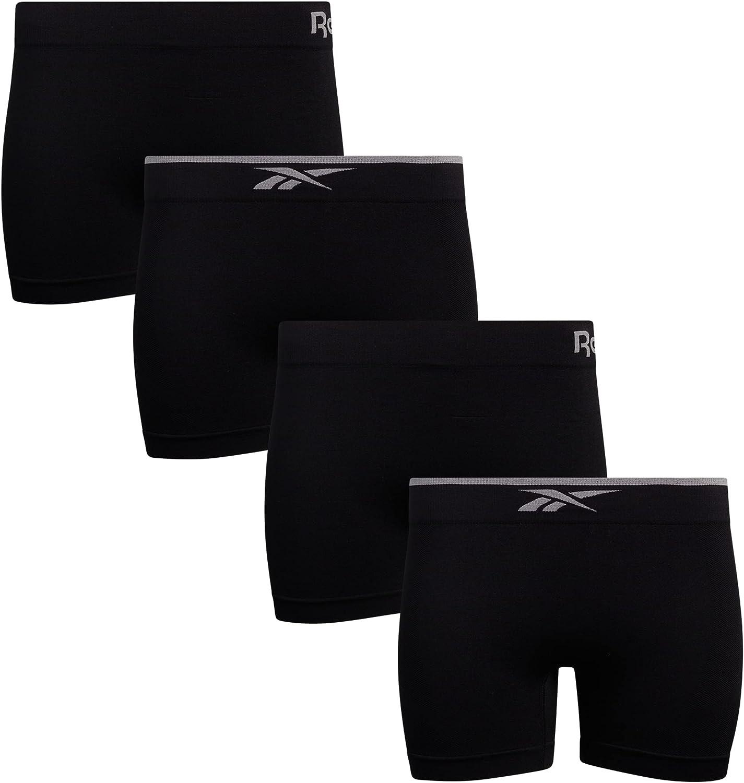 Reebok Women's Underwear - Seamless Boyshort Panties (4 Pack) at  Women's Clothing store