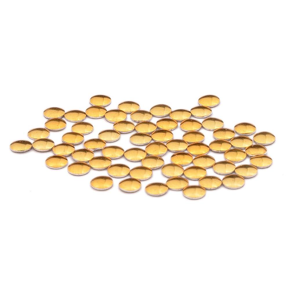 気質換気仲間ラウンド メタルスタッズ 丸型(0.8mm/1mm/1.2mm/1.5mm/2mm/2.5mm/3mm)約50粒入り (1mm, ゴールド)
