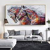 Abstrakte bunte Wolken Leinwandmalerei Wandbild Wohnzimmer moderne Kunst Poster Dekoration Malerei