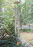 ktopnob 5' Big Extra Large 57' Wind Chime Deep Tone Tuned Resonant Bass Sound Church Windchime Outdoor Unique Memorial Sympathy-Garden Hanging Decorations Yard Bells, Silver