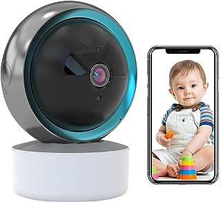 Babyfoon, wifi, IP-camera, bewakingscamera, voor binnen, werkt met Alexa, automatische tracking, wifi, huisdiercamera, HD ...