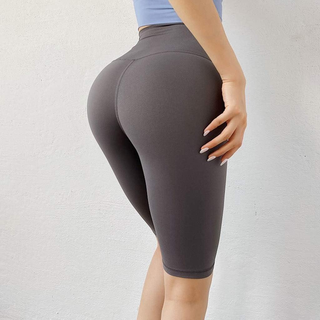 WSSBK Fitness Jogger Shorts Women High Workout Sport Waist Detroit Mall Solid Quantity limited