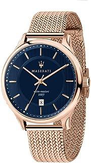 ساعة كاجوال للرجال من MASERATI بسوار ستانلس ستيل كوارتز - ذهبي وردي، 20 كاجوال (R8853136003)