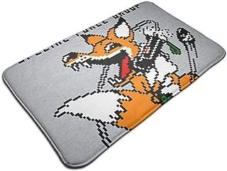 HUTTGIGH Foxhound - Felpudo antideslizante para puerta de entrada de cocina, de 19,5 x 31,5 pulgadas, diseño de fogones, c...