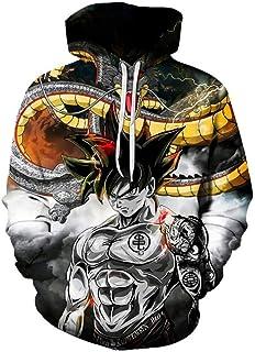 HJUNH Unisexo Ropa de Deporte Niño Tops de Sudadera,Jersey de Dragon Ball Goku Cosplay Wu Super Sayyan Otaku, Sudadera con...