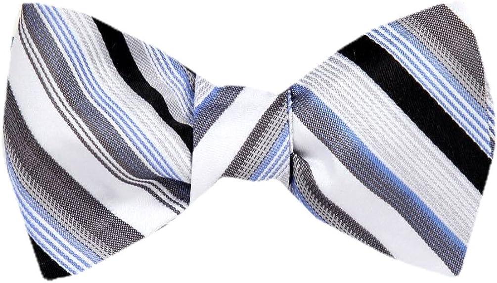 FBTZ-1221 - Men's Silk Self Tie Bowtie Tie Yourself Bow Ties