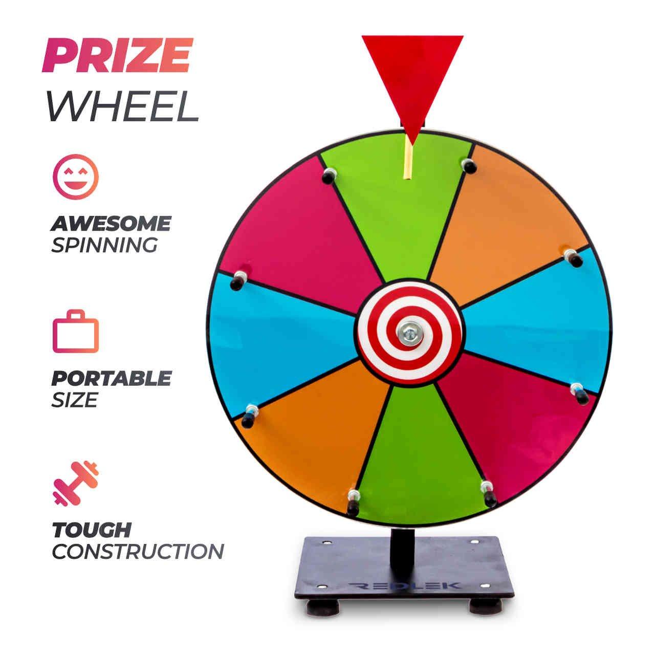 Redlek - Rueda giratoria de 30 cm para mesa con el premio de color ...