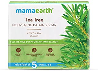 Mamaearth Tea Tree Nourishing Bathing Soap With Tea Tree and Neem for Skin Purification (Tea Tree)