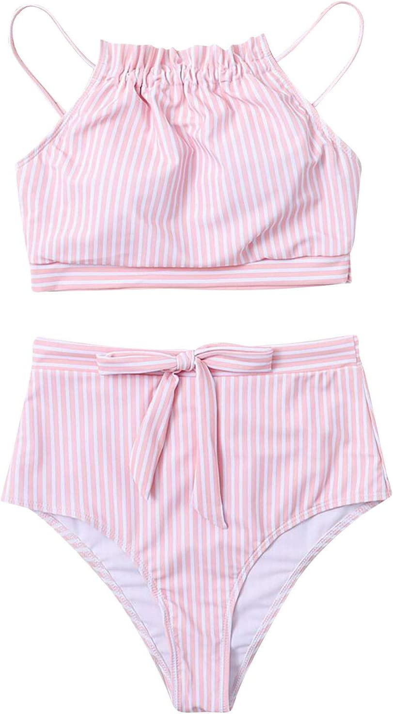 Women Sexy Two-Piece Bikini Striped Popular shop is All items in the store the lowest price challenge Swimsuit Printing Swimwear B