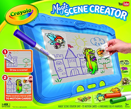 Crayola Magic Scene Creator, Drawing Kit for Kids, Creative Toys, Ages 3, 4, 5, 6, 7