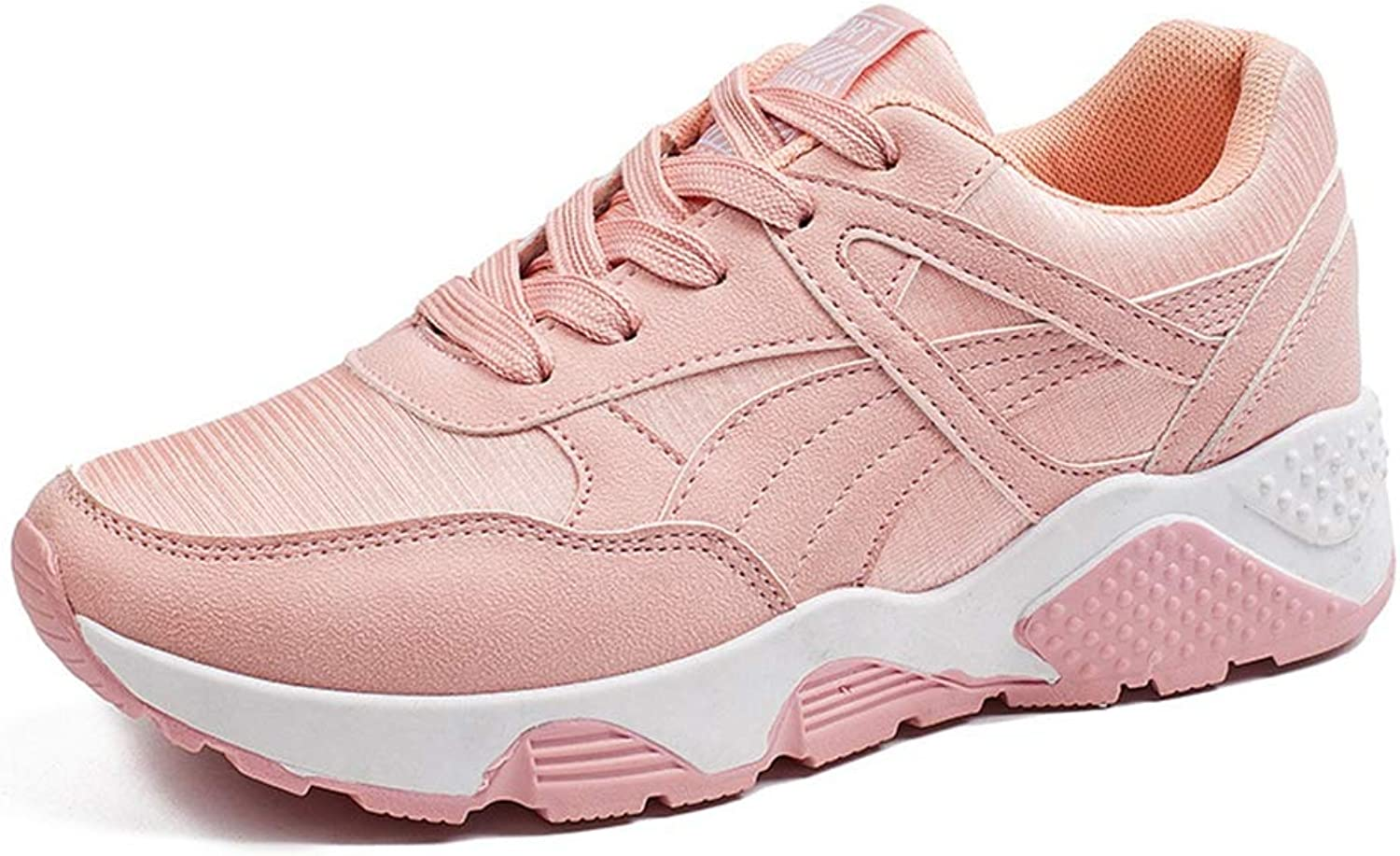 GIY Women's Fashion Sneakers Breathable Mesh Loafers Flats shoes Casual Lace-up Slip On Running shoes
