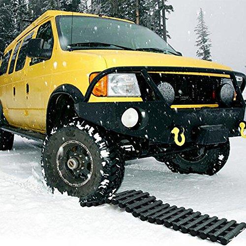 LPY-Tapis de traction de voiture Tapis de pneu antidérapant Tapis d'urgence pliables, idéal pour la neige, la glace, la boue et le sable
