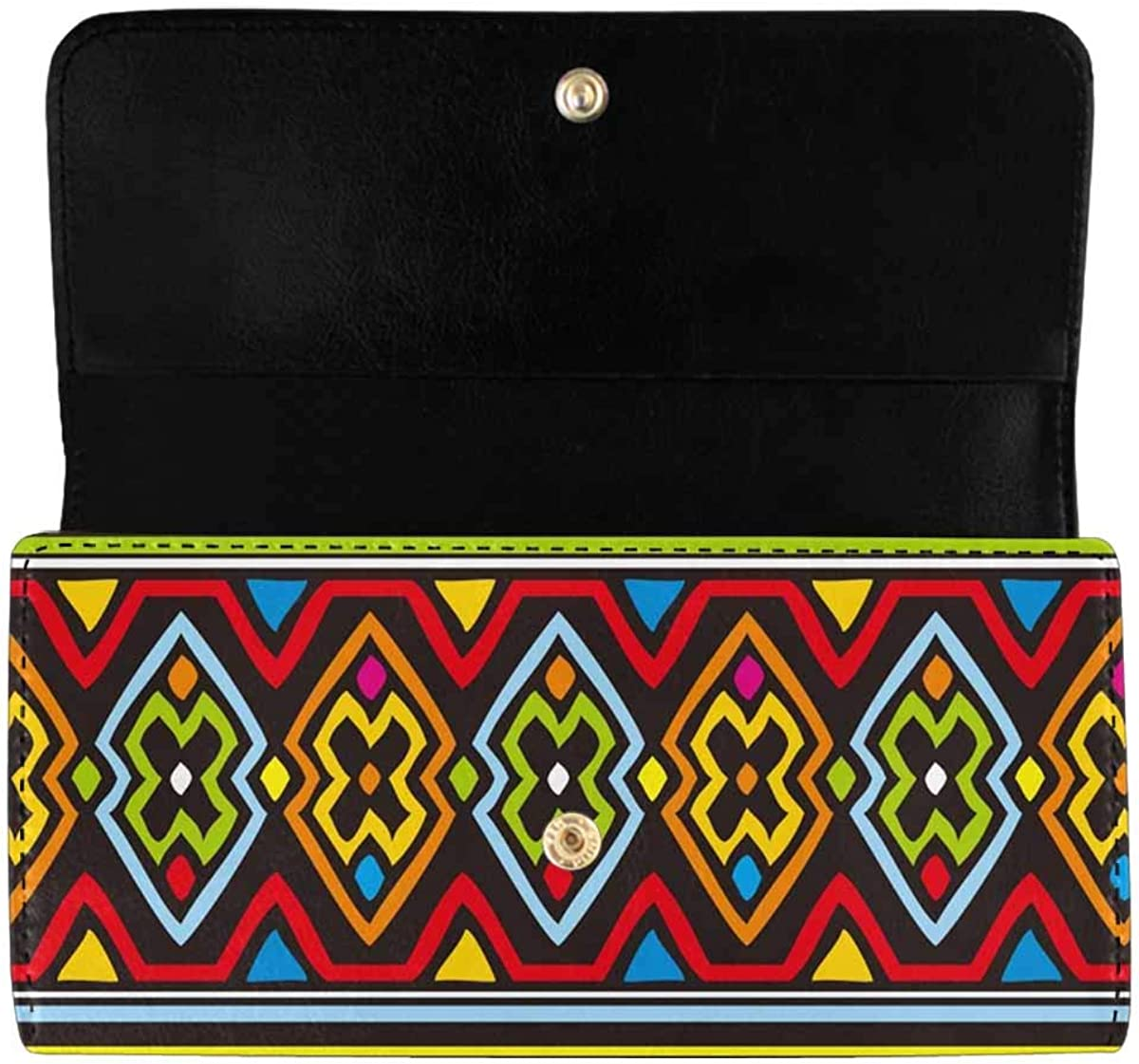 InterestPrint Women's SEAL limited product Long Clutch Wallets Challenge the lowest price Art Prin Retro African