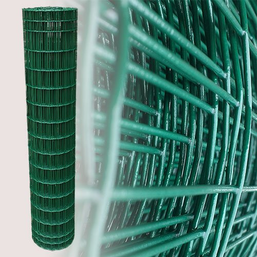 25 Meter Gartenzaun Grün Maschenweite 5 x 10 cm (150cm)