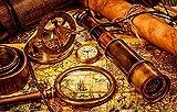Puzzle de 1000 piezas de rompecabezas de madera Puzzles y rompecabezas Rompecabezas rompecabezas de madera adulto antiguo mapa náutico rompecabezas decoración rompecabezas educativo rompecabezas reg