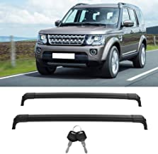 Qiilu Car Roof Baggage Luggage Rack Cross Bars Fit for Land Rover Discovery 4 LR4 2010-2016