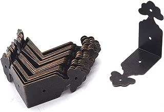 Antrader Vintage Corner Protector Metal L Shaped Decorative Furniture Case Box Cover Corner Guards Bronze Tone, 24 Pack, 1.5