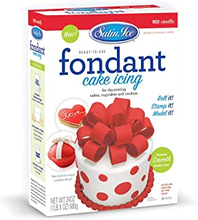 Satin Ice Red Fondant, Vanilla, 24 Ounces