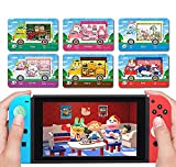 6 pezzi acnh nfc tag cards per sanri animal rv villager furniture, collaboration pack, (rilla, marty, star, chai, chelsea, toby), per switch/lite/wii u/new 3ds / switch controller