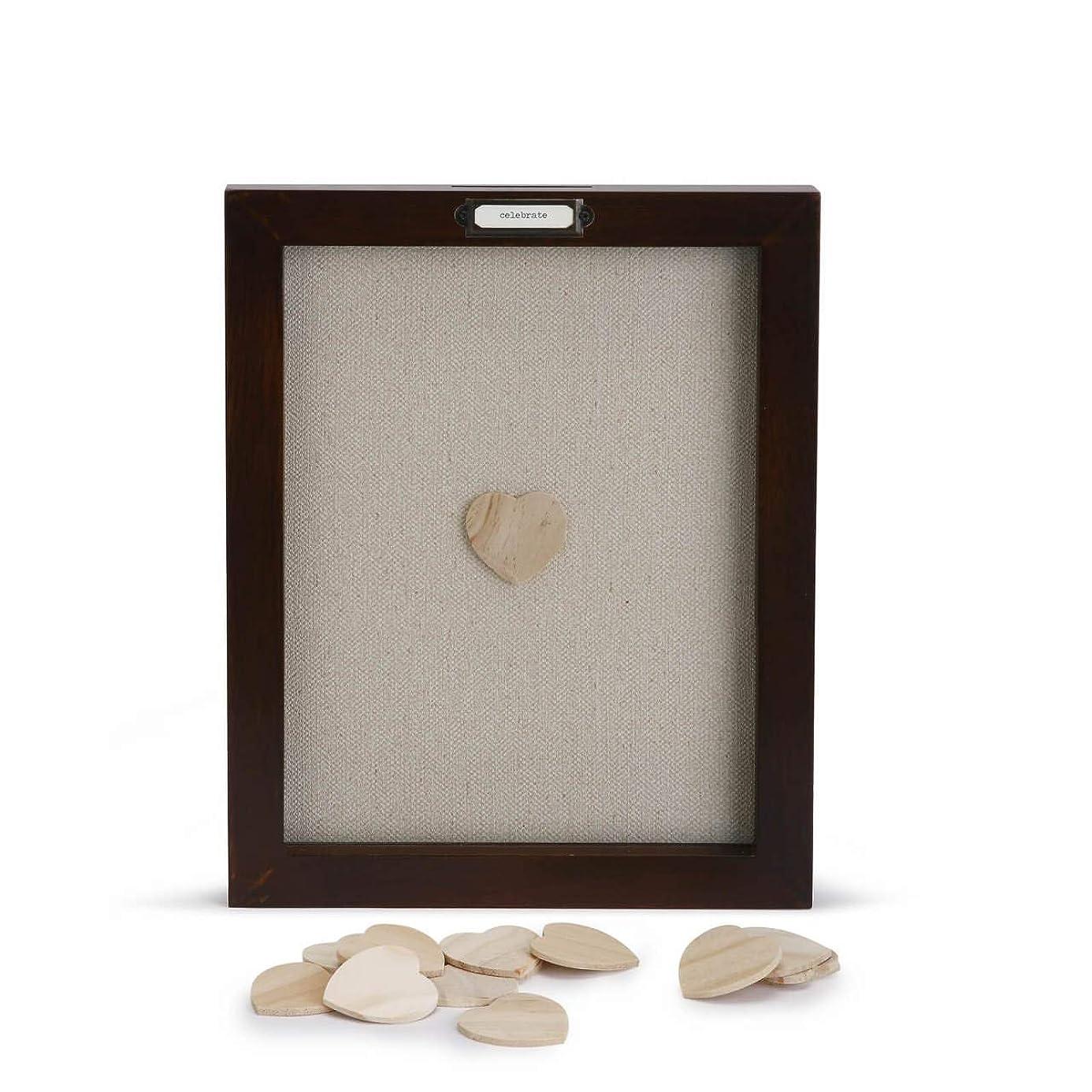 DEMDACO Loving Hearts Guest Book Small 13 x 10 Wood Framed Wall Art Plaque zfp2009632