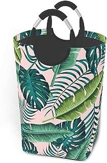 Panier à linge 50L, sac de rangement Folle à feuilles tropicales Durable et facile à nettoyer pour les dortoirs universita...