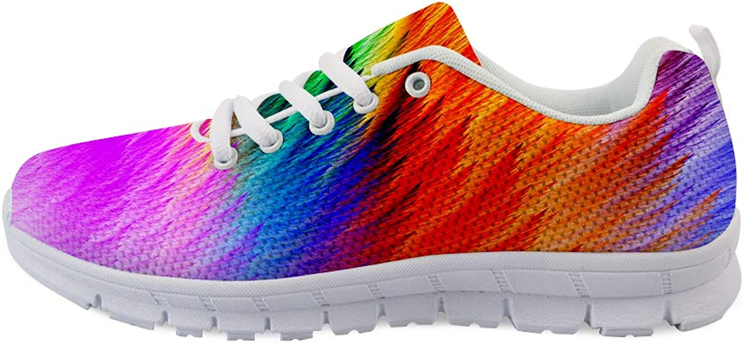 Owaheson Lace-up Sneaker Training shoes Mens Womens Holi colorful Powder Unfolding Wings Feathers