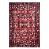 WEBTAPPETI.IT Alfombra turca con diseño clásico rojo para salón, salón, bosforo Terra 160 x 230 cm