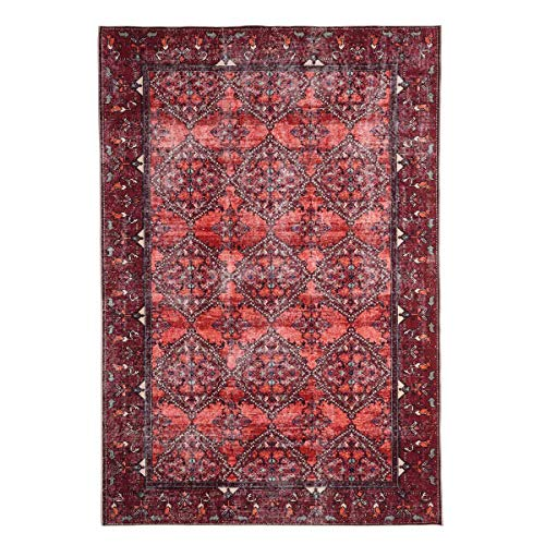 WEBTAPPETI.IT - Alfombra turca, diseño clásico, color rojo, salón, salón, salón, bosque, tierra, 160 x 230 cm